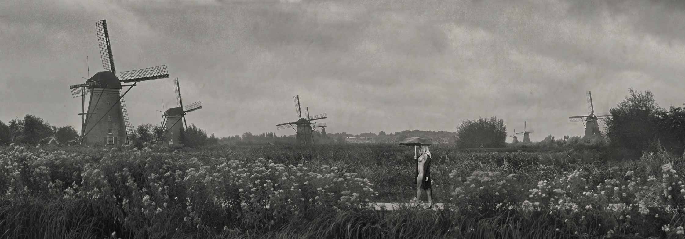 Kinderdijk-in-the-Rain_Sepia_Post